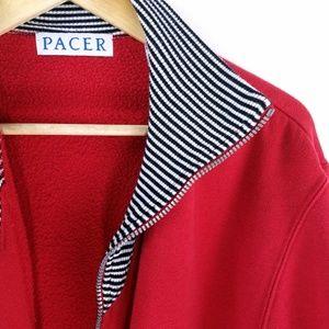 '80s Vintage Pacer Zip Up Sweatshirt Jacket Medium